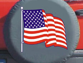 Flag Tire Cover